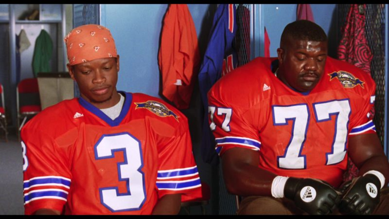 Adidas Jerseys and Football Gloves in The Waterboy (1998) Movie Product Placement