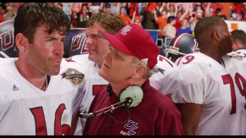 Adidas Red Cap and David Clark Headsets in The Waterboy (1998) - Movie Product Placement