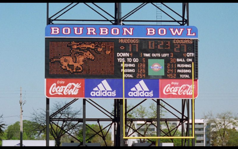 Adidas and Coca-Cola Scoreboard in The Waterboy (1)