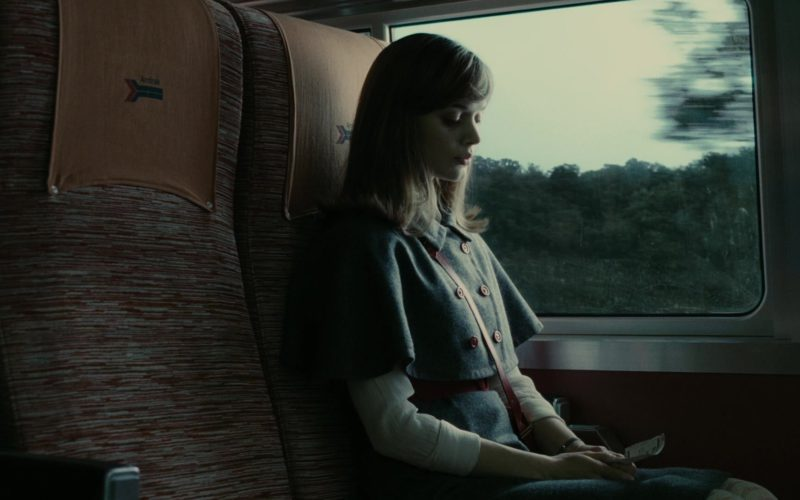 Amtrak Train in Dark Shadows (1)