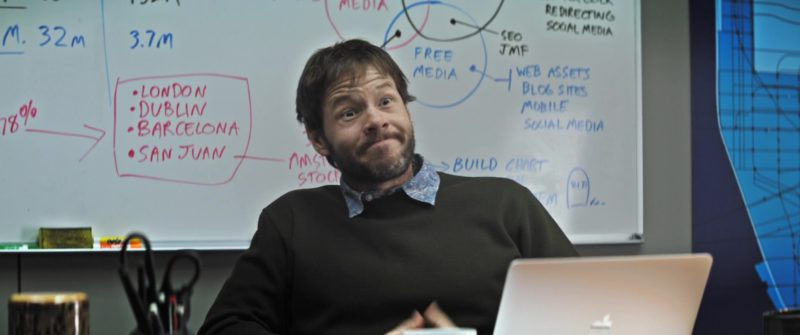 Apple MacBook Notebook Used by Ike Barinholtz in The Oath (2018) Movie Product Placement