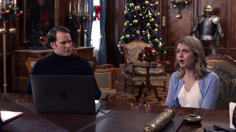 Apple MacBook Pro Used by Ben Lamb and Rose McIver in A Christmas Prince: The Royal Wedding (2018) - Movie Product Placement