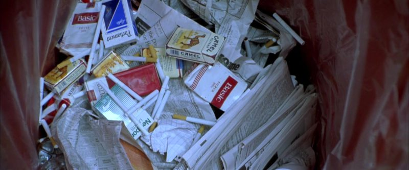 Basic Cigarettes, Camel, Parliament in Rounders (1998) Movie Product Placement