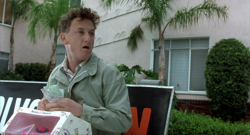 Baskin-Robbins Ice Cream Cake For Father's Day Held by Sean Penn in I Am Sam (2001) - Movie Product Placement