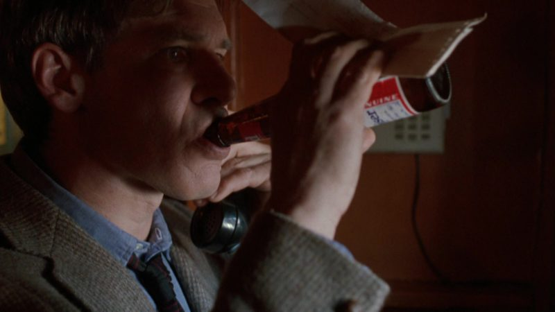 Budweiser Beer Drunk by Harrison Ford in The Fugitive (1993) Movie Product Placement