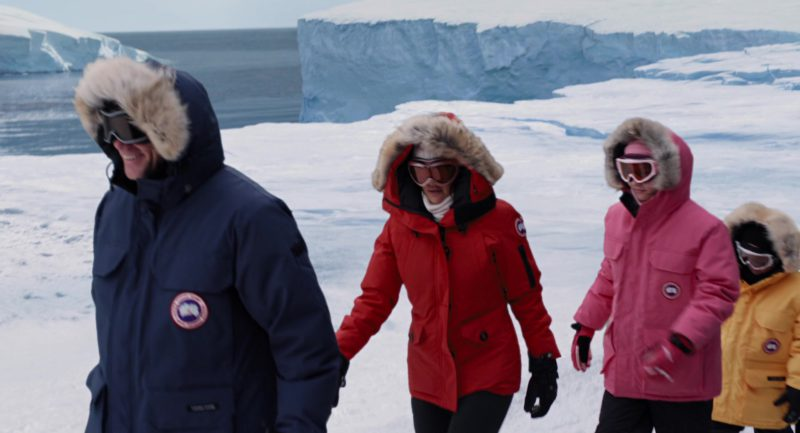 Canada Goose Blue Parka Jacket Worn By Jim Carrey in Mr. Popper's Penguins (2011) - Movie Product Placement