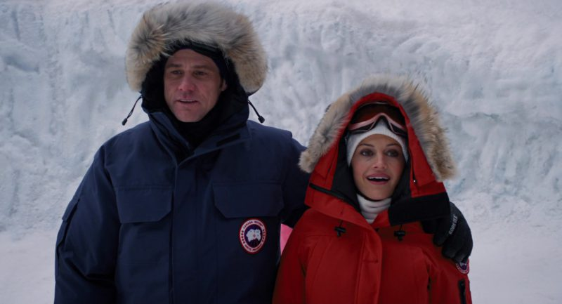 Canada Goose Blue Parka Jacket Worn By Jim Carrey in Mr. Popper's Penguins (2011) Movie Product Placement