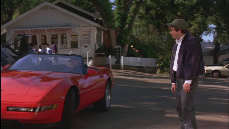 Chevrolet Corvette C4 Red Convertible Car Driven by Ed O'Neill in Little Giants (1994) - Movie Product Placement