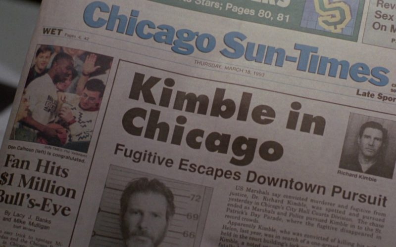Chicago Sun-Times Newspaper in The Fugitive (1)