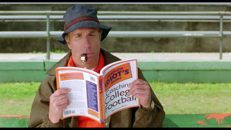 Complete Idiot's Guides To Coaching College Football in The Waterboy (1998) Movie Product Placement