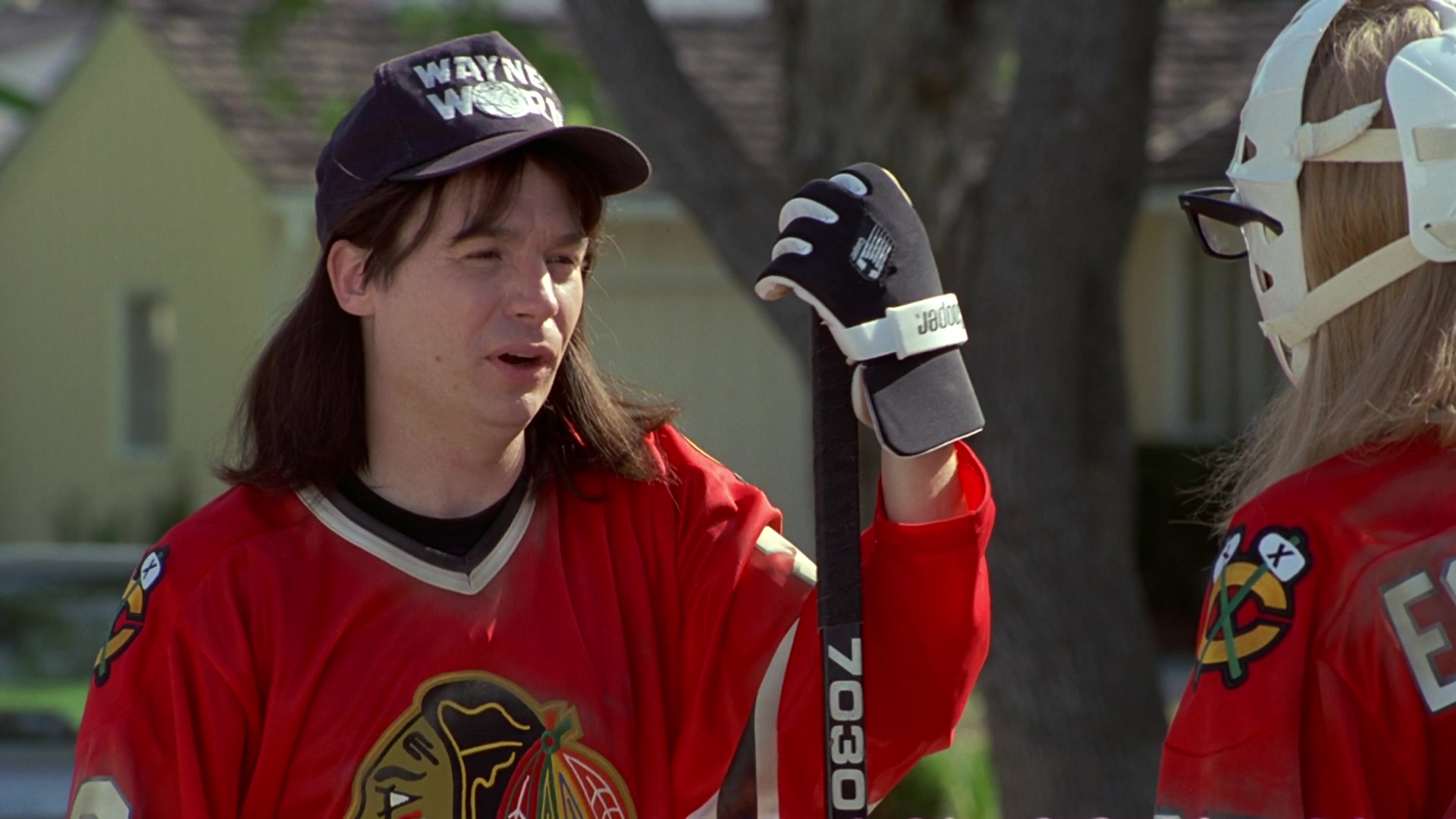 Cooper Ice Hockey Gloves Worn By Mike Myers In Waynes World 1992