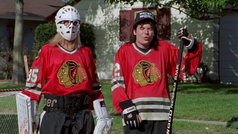 Cooper Ice Hockey Gloves Worn by Mike Myers in Wayne's World (1992) - Movie Product Placement