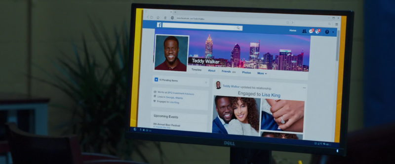 Dell Monitor and Facebook Social Network in Night School (2018) Movie