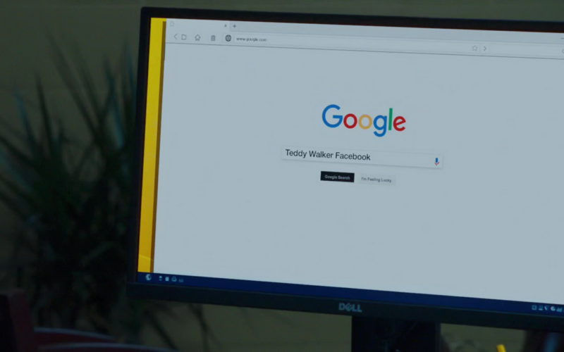 Dell Monitor and Google Search in Night School