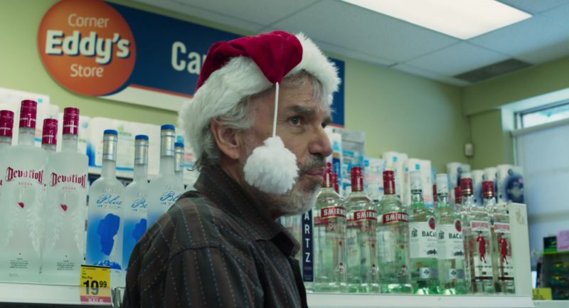 Devotion Vodka, Tahoe Blue Vodka, Smirnoff, Bacardi Rum, Beefeater Gin in Bad Santa 2 (2016) Movie Product Placement