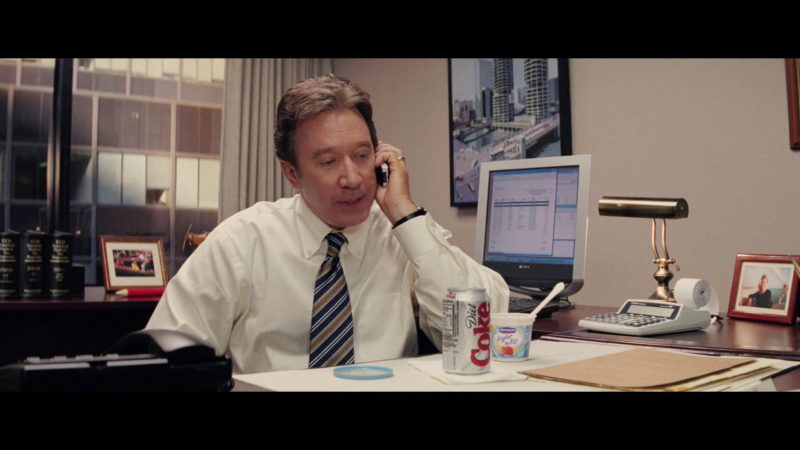 Diet Coke, Dannon Light & Fit Yogurt and Sony Monitor Used by Tim Allen in Christmas with the Kranks (2004) Movie Product Placement
