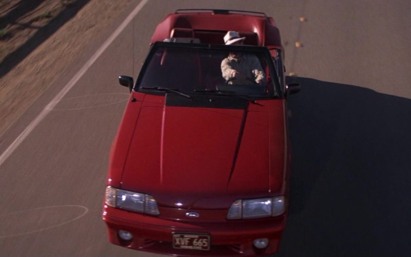 Ford Mustang Red Car in Road House (1)