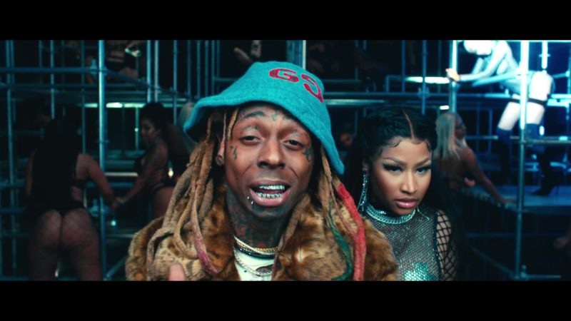"Gucci Bucket Hat Worn by Lil Wayne in ""Good Form"" ft. Nicki Minaj (2018) Official Music Video Product Placement"