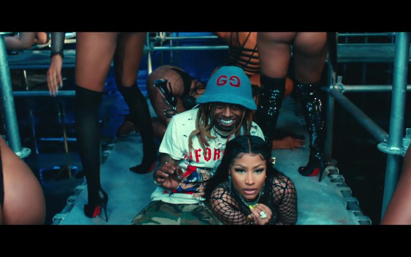 Gucci Bucket Hat Worn by Lil Wayne in Good Form ft. Nicki Minaj (7)