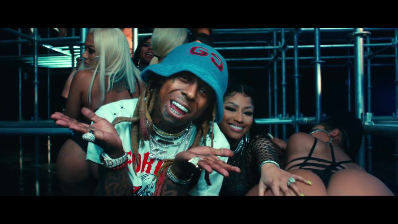 "Gucci Bucket Hat Worn by Lil Wayne in ""Good Form"" ft. Nicki Minaj (2018) - Official Music Video Product Placement"