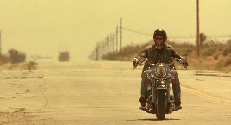 Harley-Davidson Heritage Softail Classic Motorcycle Used by Aaron Eckhart in Erin Brockovich (2000) Movie Product Placement