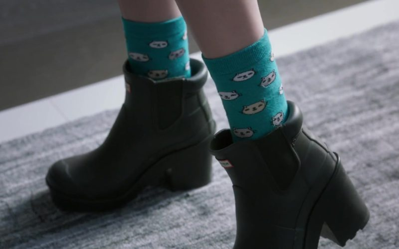 Hunter Original Block Heel Chelsea Boots Worn by Anna Kendrick in A Simple Favor (3)