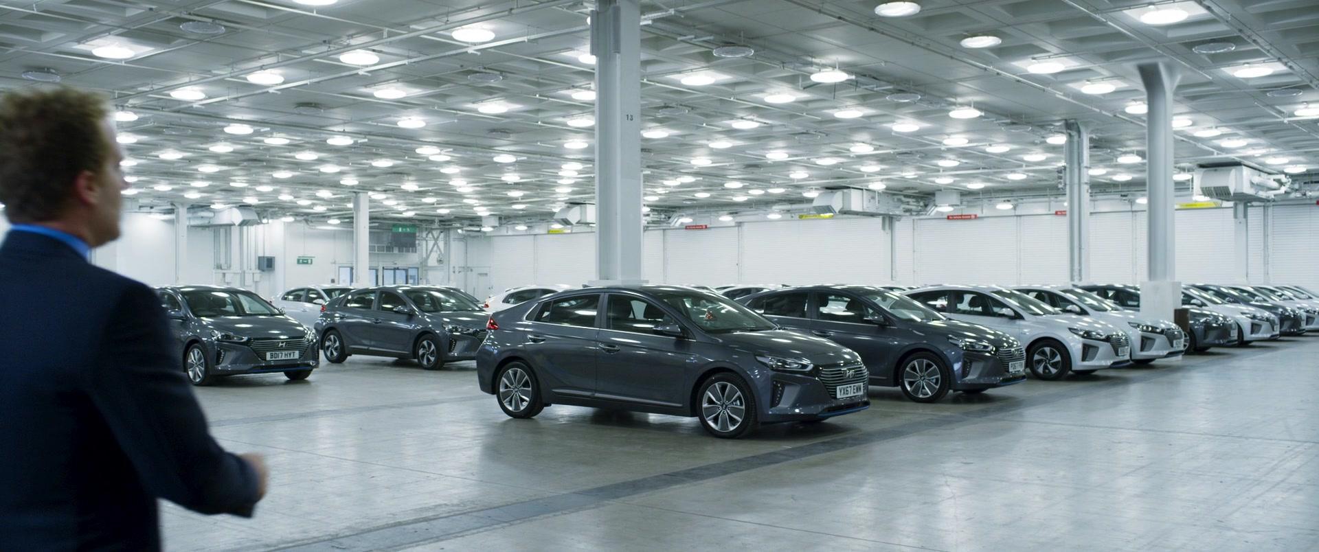 Hyundai Ioniq Cars in Johnny English Strikes Again (2018) Movie