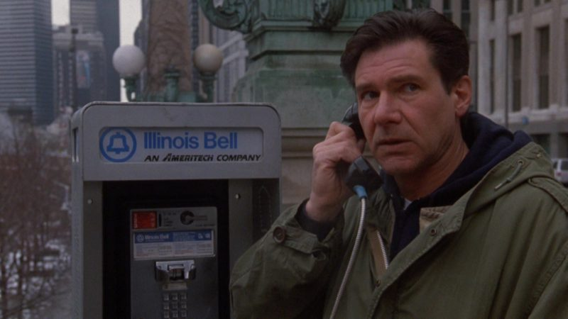 Illinois Bell An Ameritech Company Payphone Used by Harrison Ford in The Fugitive (1993) - Movie Product Placement