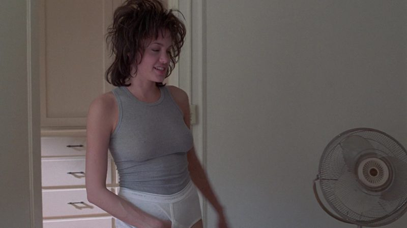 Jockey Men's Briefs Worn by Angelina Jolie in Gia (1998) Movie Product Placement