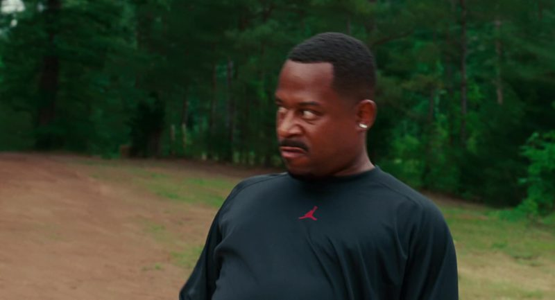 Jordan Black Long Sleeve Tee Worn by Martin Lawrence in Welcome Home, Roscoe Jenkins (2008) Movie
