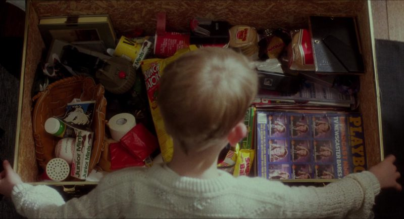 Junior Mints, Crunch Tators, Twinkies and Playboy Magazine in Home Alone (1990) - Movie Product Placement