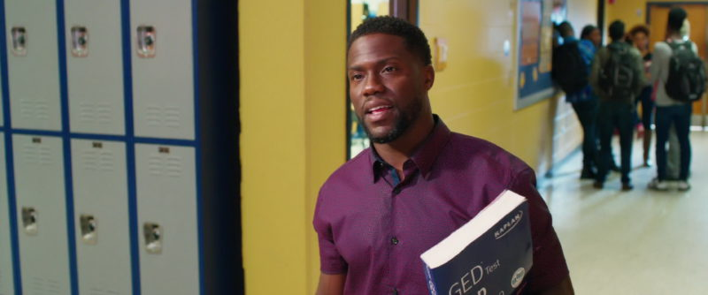Kaplan GED Test Prep 2019 Held by Kevin Hart in Night School (2018) Movie Product Placement