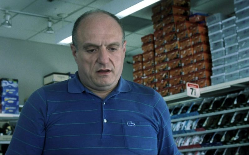 Lacoste Blue Polo Shirt Worn by Stanley DeSantis in I Am Sam (1)