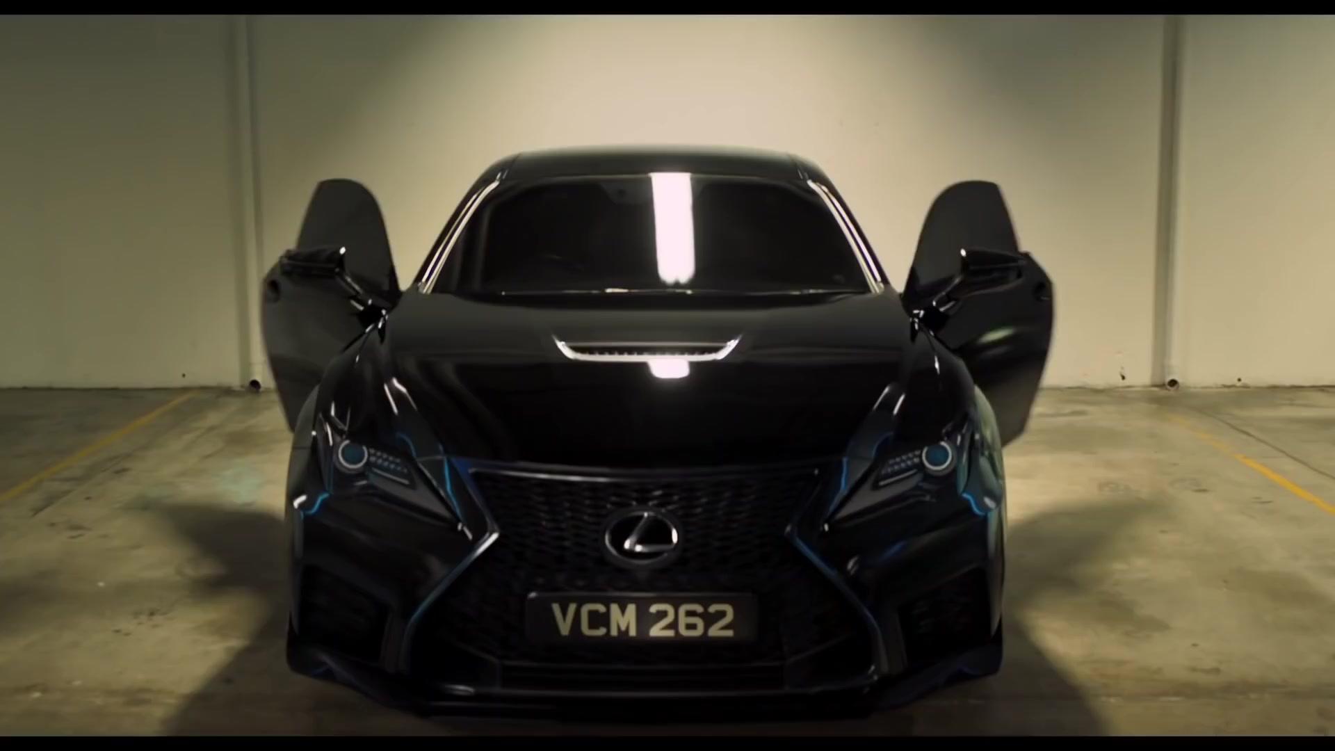 Lexus Rc F Luxury Sports Car In Men In Black