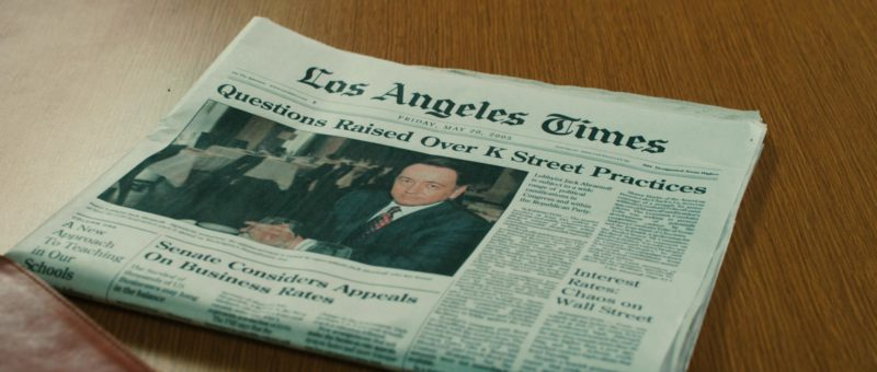 Los Angeles Times Newspaper in Casino Jack (2010) - Movie Product Placement