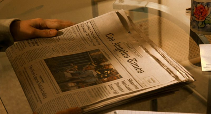 Los Angeles Times Newspaper in Erin Brockovich (2000) Movie Product Placement