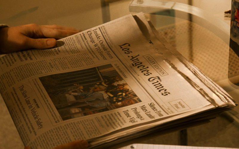 Los Angeles Times Newspaper in Erin Brockovich