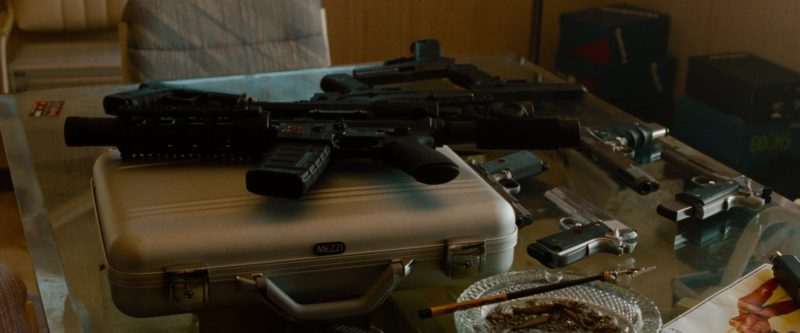 MEZZI Aluminum Briefcase in Spring Breakers (2012) Movie Product Placement