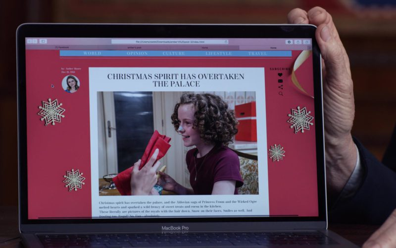 MacBook Pro Laptop Used by Sarah Douglas in A Christmas Prince (1)