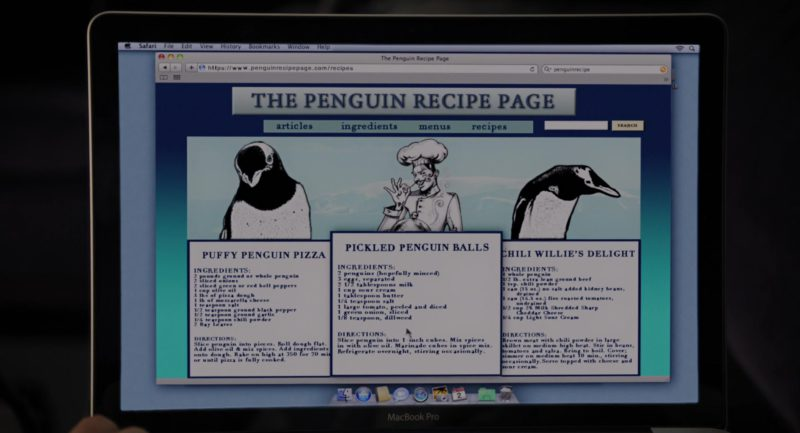 MacBook Pro Laptop and Safari WEB Browser in Mr. Popper's Penguins (2011) - Movie Product Placement