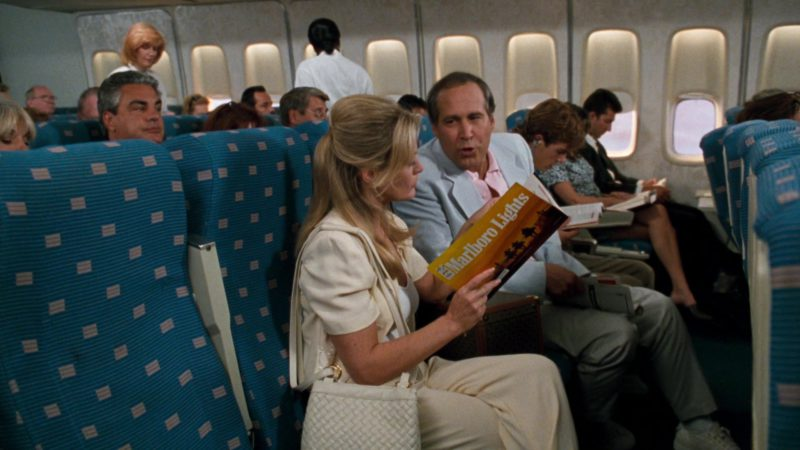 Marlboro Lights Cigarettes Magazine Cover Advertising in Vegas Vacation (1997) - Movie Product Placement