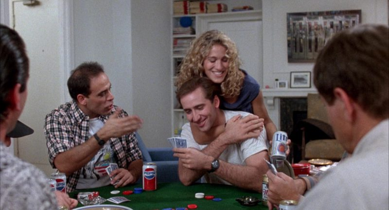 Miller Lite Beer Held by Sarah Jessica Parker and Pepsi in Honeymoon in Vegas (1992) - Movie Product Placement