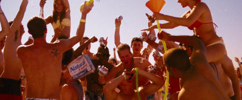 Natural Light Beer in Spring Breakers (2012) Movie Product Placement