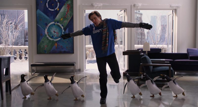 NY Giants T-Shirt Worn by Jim Carrey in Mr. Popper's Penguins (2011) - Movie Product Placement