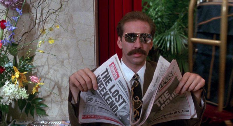 New York Post Newspaper Held by Nicolas Cage in Honeymoon in Vegas (1992) - Movie Product Placement