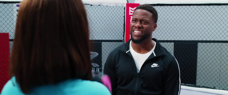 Nike Black Sports Jacket Worn by Kevin Hart in Night School (2018) Movie Product Placement