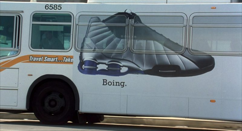 Nike Shox and Nike Boing Shoes Bus Advertising in I Am Sam (2001) Movie Product Placement