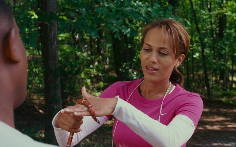 Nike Pink T-Shirt Worn by Nicole Ari Parker in Welcome Home, Roscoe Jenkins (1)