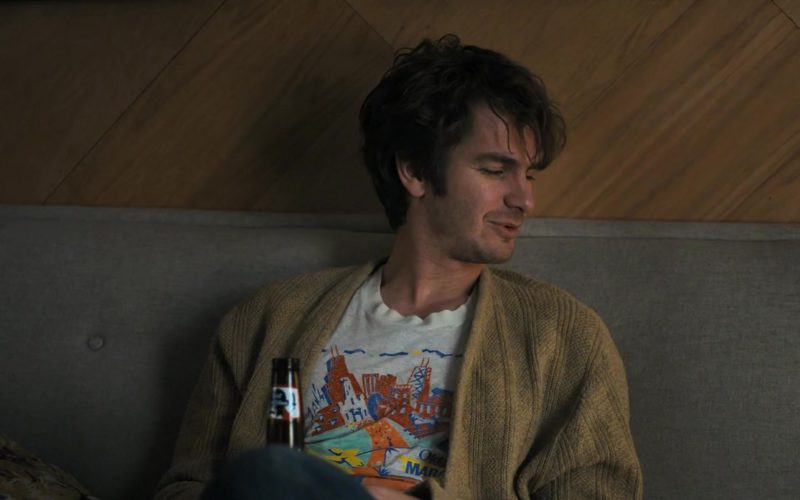 Pabst Blue Ribbon Beer Drunk by Andrew Garfield in Under the Silver Lake (1)