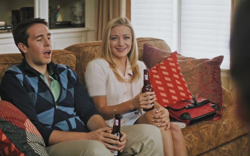 Pabst Blue Ribbon Beer Drunk by Jon Barinholtz and Meredith Hagner in The Oath (2)